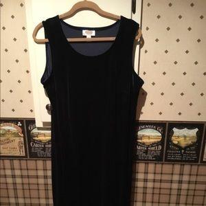 Talbots velvet dress